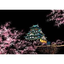 Sakura- Collection de 4 cartes postales