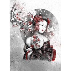 Peinture à numéros - Geisha