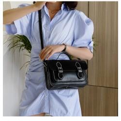 """Kit sac """"La sacoche"""" noir, blanc et rouge"""