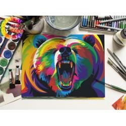 Peinture à numéros - Ours