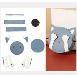 """Kit sac DIY - La pochette """"Mon Chat"""" - Bleu"""