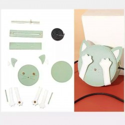 "Kit sac DIY - La pochette ""Mon Chat"" - Vert"