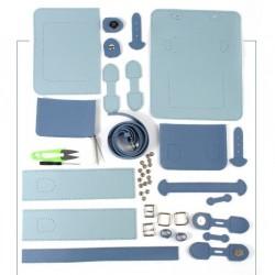 Kit sac DIY La petite sacoche - Gris & Bleu