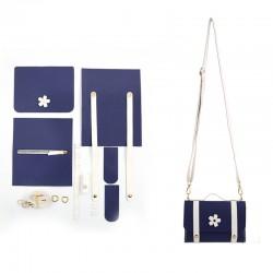"""Kit sac DIY """"Le Temps des Cerises"""" - Bleu"""